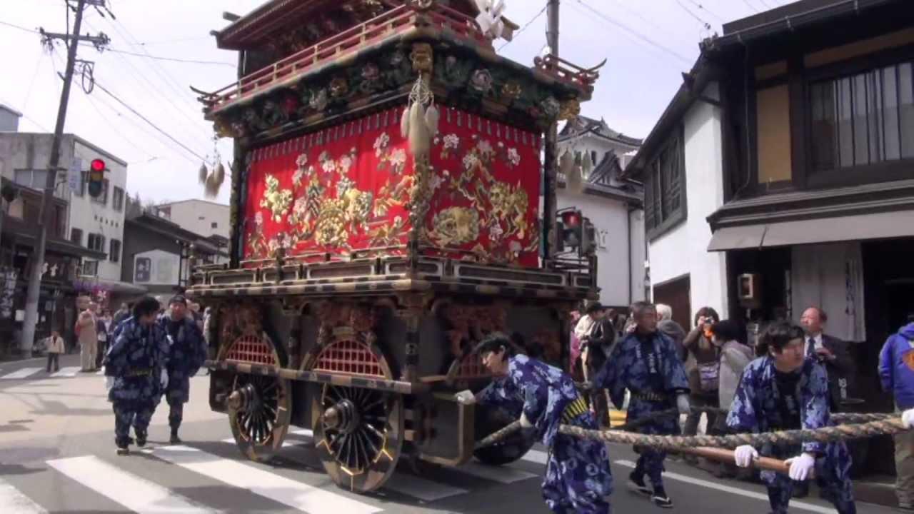 2012年4月15日 春の高山まつり (岐阜県高山市) - YouTube