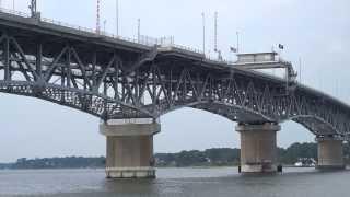 George P. Coleman Bridge In Historic Yorktown Virginia By Jonfromqueens