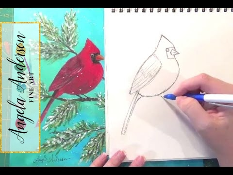Cardinal Bird Drawings Easy