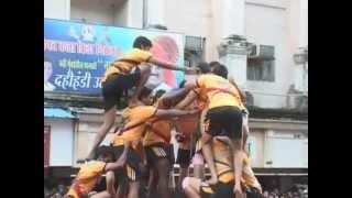 Best Govinda Pathak In Navi Mumbai, 8 Storey Human Tower, Airoli Koliwada