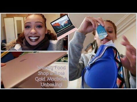 Weekly Food Shop & Rose Gold MacBook Unboxing | Vlog | Valerie Stormer