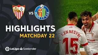 Highlights Sevilla FC vs Getafe CF (3-0)