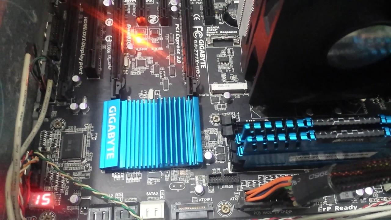 gigabyte motherboard z77x-ud3h bootloop problem worst mobo ever FIX