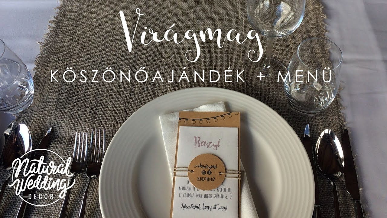 Virgmagos Ksznajndk Menvel Diy Natural Wedding Decor Youtube