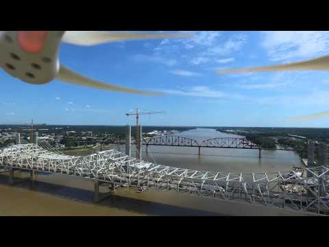 Aerial Trip Over The Ohio River From The Banks of Louisville
