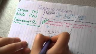 9.sınıf fizik ısı , sıcaklık ve termometreler soru çözümü