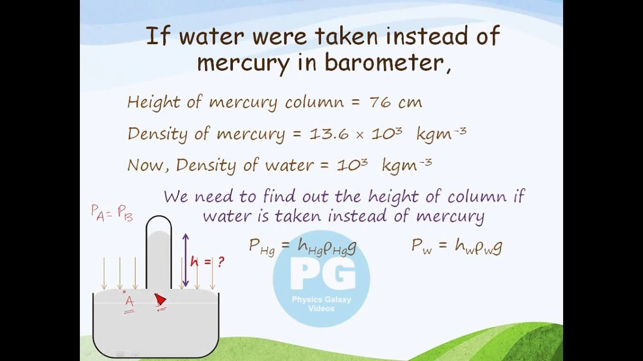 Water In A Barometer Instead Of Mercury Ga M Fld22 Youtube How To Build Electronic Torricelli
