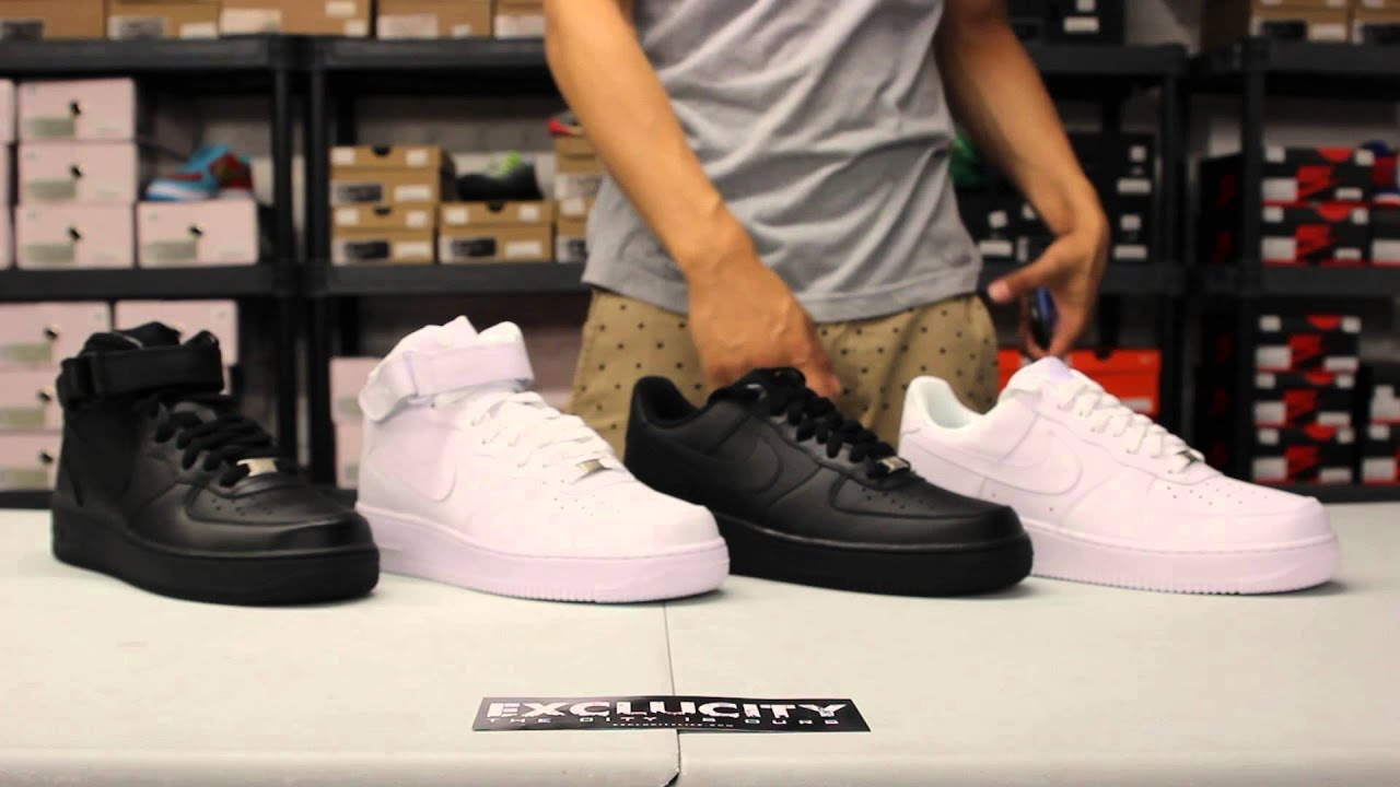 Conhecido Classic Look at the Air Force 1 Mid & Low at Exclucity - YouTube EK07
