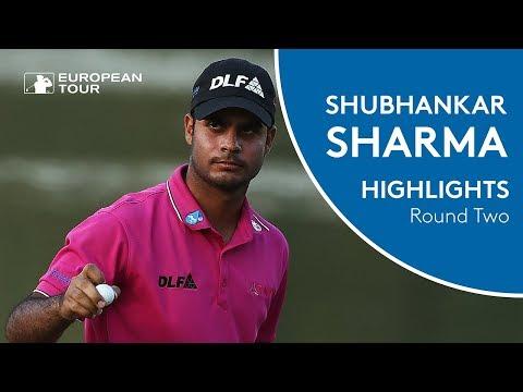 Shubhankar Sharma Highlights | COURSE RECORD | Round 2 | 2018 Hero Indian Open