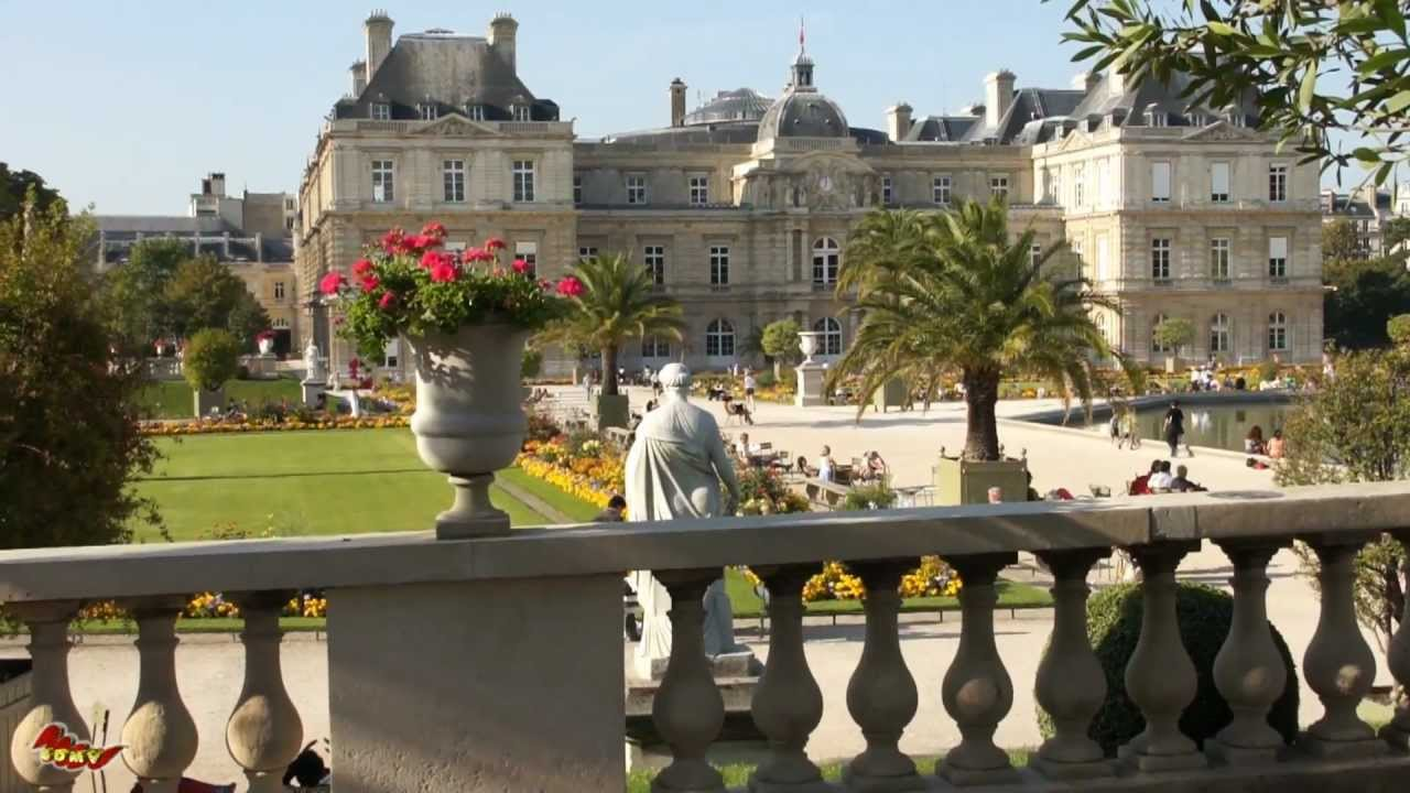 le palais et jardin du luxembourg youtube. Black Bedroom Furniture Sets. Home Design Ideas