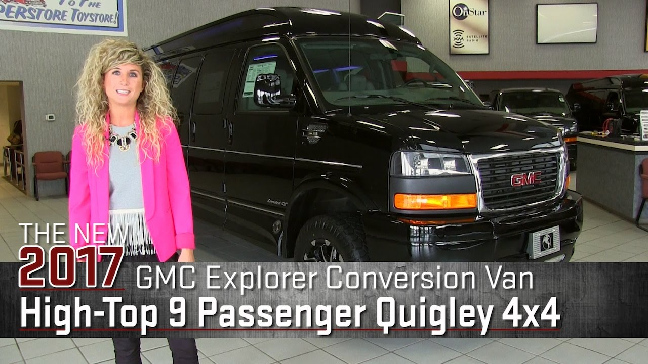 CUSTOM New 2017 Lifted GMC Explorer Conversion Van Quigley 4x4 On Rims