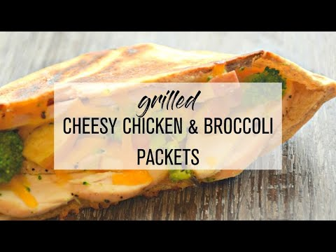 Grilled Cheesy Chicken and Broccoli Pocket