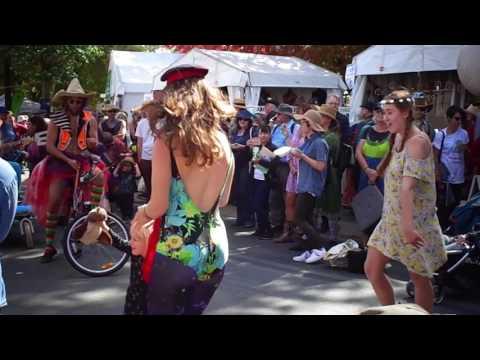 Crazy Old Maurice's Disco Bike Karaoke @ National Folk Festival, Canberra, 2017.