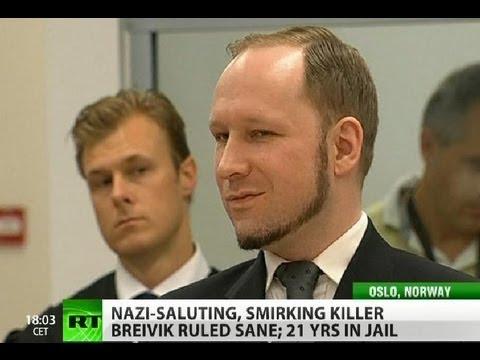 'Sane' Breivik gets 21 years, regrets not killing more