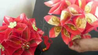 Repeat youtube video 红包绣球灯 - lantern made from red packet