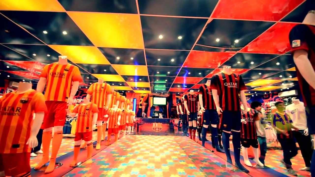 1df263586 صدى جماهير الشمس - متجر برشلونه في الرياض BARCELONA SHOP - YouTube