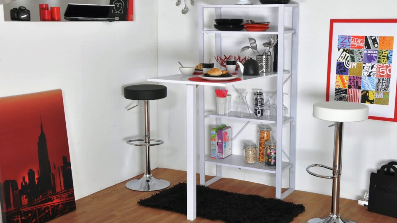 Bar Escamotable Table Escamotable Dans Meuble De Cuisine