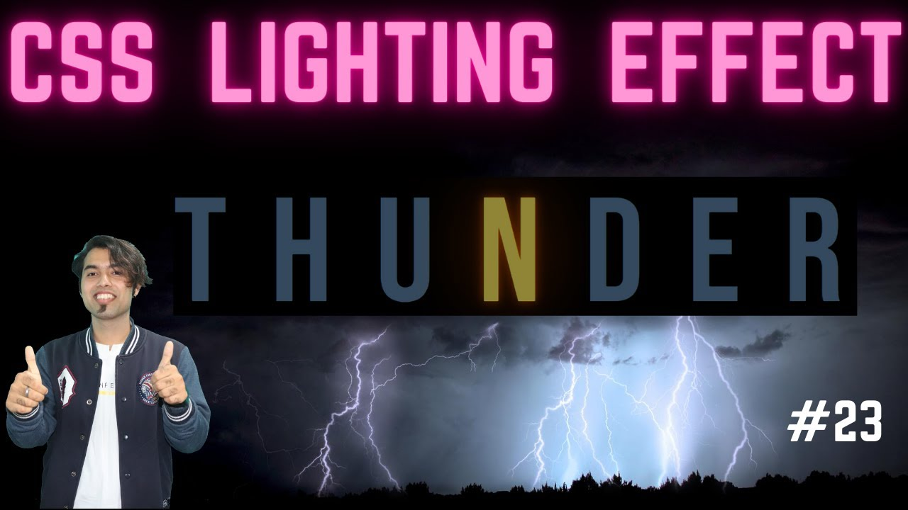 ⚡ Text Lightning Effect using CSS Animation ⚡