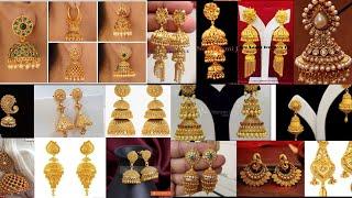 Latest Jhumkas Earrings Design 2019   latest Sone ki design Jewellery Design  2019