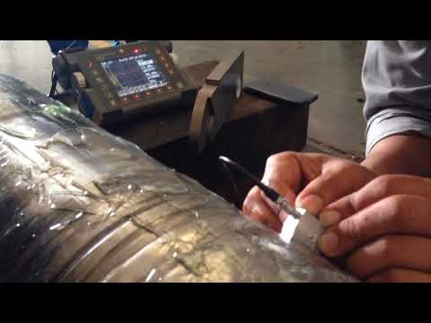 How To Ultrasonic Testing With USM 35 On Shaft #3 [Thai]