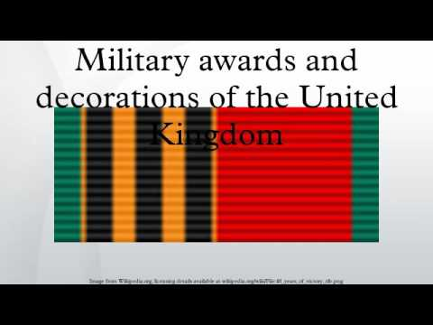 Military awards and decorations of the united kingdom for Awards and decoration