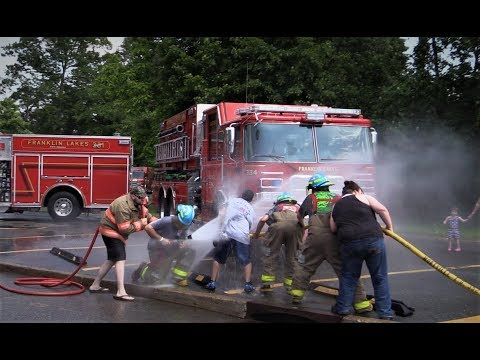 Franklin Lakes NJ Fire Department Dual Wet Down June 10th 2017