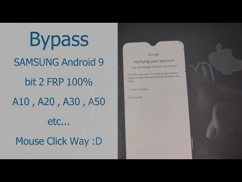 How to bypass SAMSUNG Android 9 bit 2 frp A10 A20 A30 A50 A80 etc... 1000%