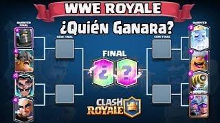 INCREÍBLE ⚡ WWE ROYALE Versión CLASH ROYALE !!! ⚡ ¿Que Equipo Ganará?
