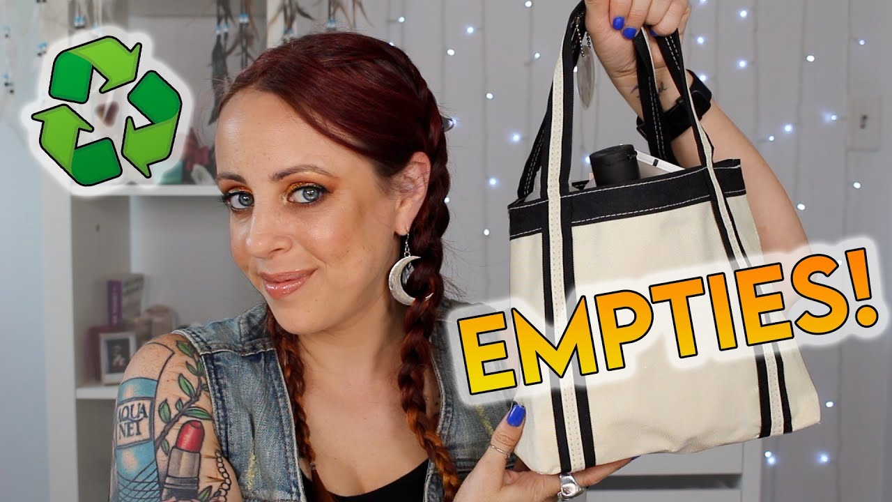 A GOOD 'OL EMPTIES VIDEO 🗑️ Stuff I've used up in Skincare, Makeup, etc. | GlitterFallout