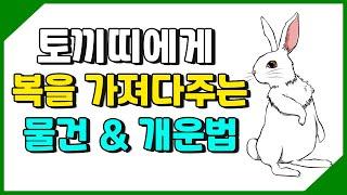 토끼띠에게 돈을 가져다주는 물건 및 개운법