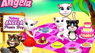 Говорящая Кошка Анжела Пикник Детские Мультики Мультфильмы для девочек и мальчиков Children TV