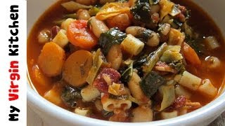 Chunky Minestrone Soup - Myvirginkitchen