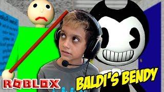 Roblox - Eu Vi o Bendy na Escola do Baldi's Basics! (Baldi's Basics Multiplayer)