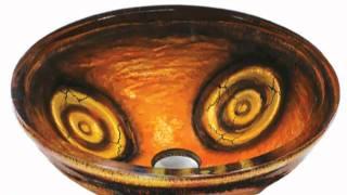VGT010 Vigo Copper Glass Sink and Faucet Set