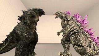 [SFM]Godzilla and Godzilla 2014