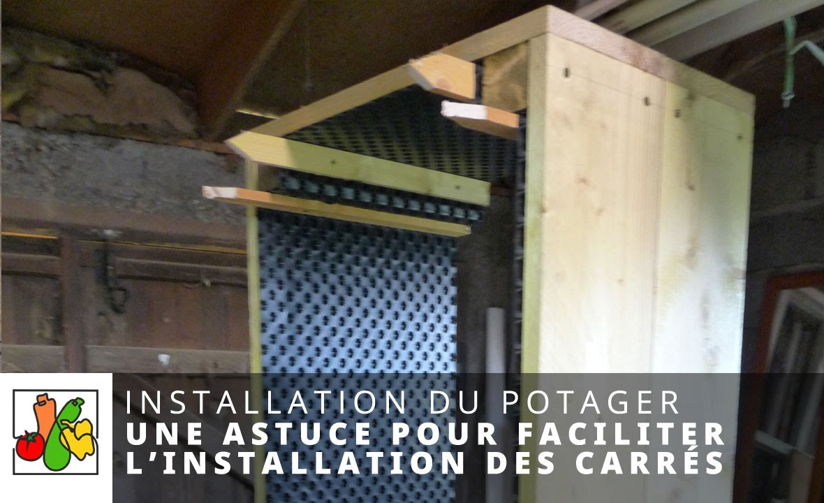 une astuce pour installer vos carr s de potager youtube. Black Bedroom Furniture Sets. Home Design Ideas