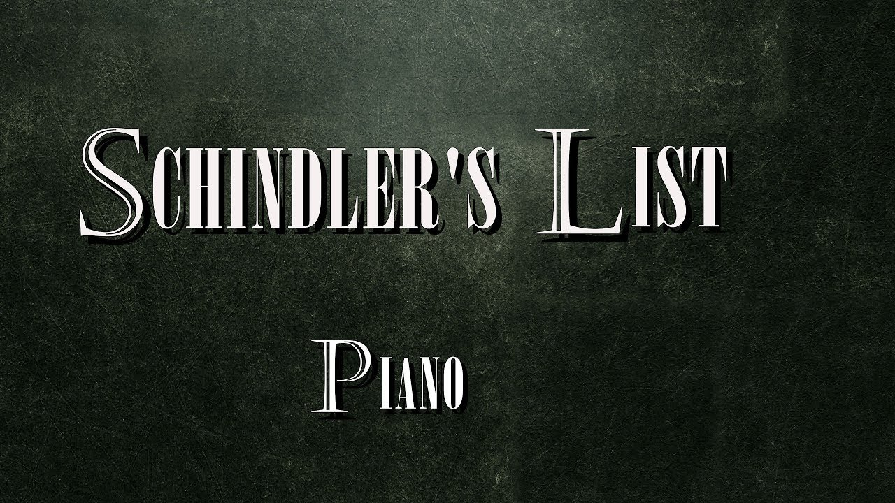 Schindler 39 s list piano youtube for Dietmar steinhauer