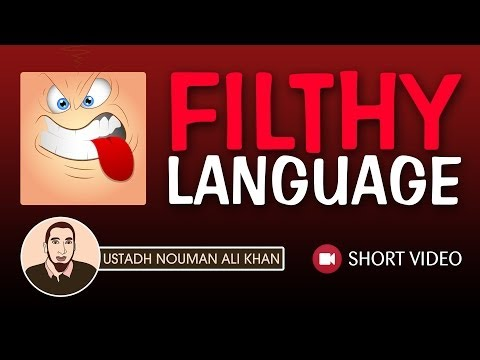 Filthy Language ᴴᴰ ┇ Islamic Short Video ┇ by Ustadh Nouman Ali Khan ┇  TDR Production ┇