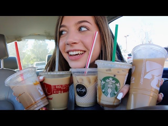 i tried (iced) coffee from every fast food restaurant
