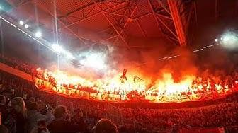 Pyroshow Pyro Derby Fortuna Düsseldorf vs 1.FC Köln 03.11.2019 Merkur Spielarena