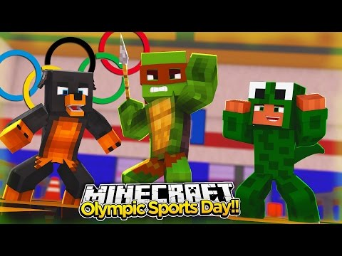 Minecraft School - OLYMPICS SPORTS DAY FOR THE SCHOOL