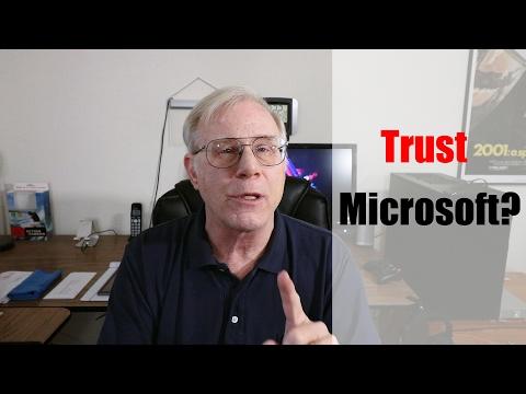 Do You Trust Microsoft??
