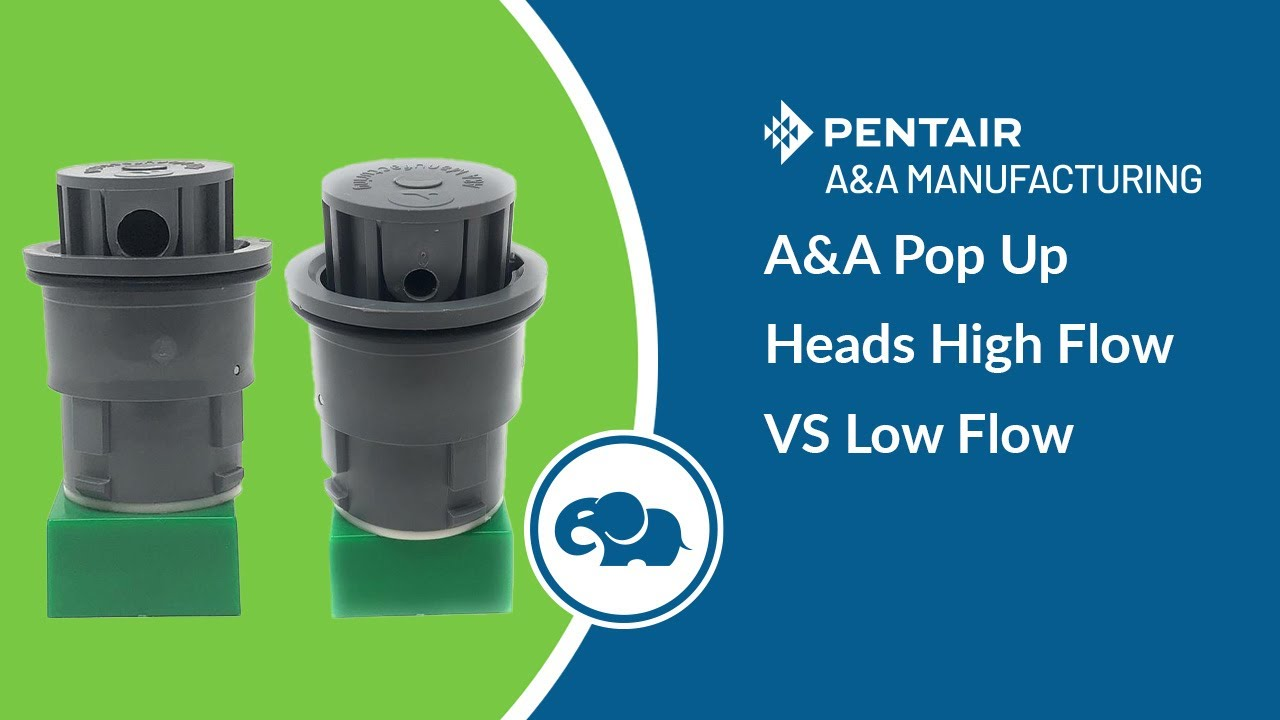 A/&A Style 2 High Flow Pop Up Head White