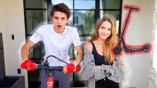 TAPING MYSELF TO A SCOOTER FOR 24 HOURS! (bad idea) | Brent Rivera