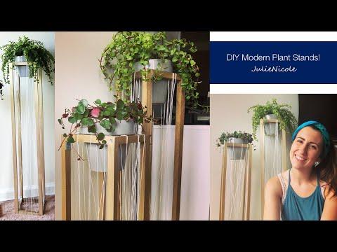 DIY Mid-Century Modern Plant Stands!