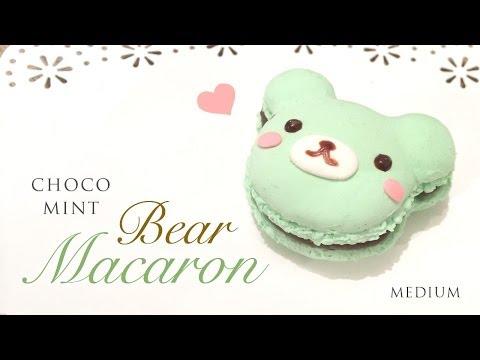 DIY Mint Chocolate Macaron Bear Tutorial - Kawaii Paper Clay Crafts