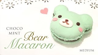 DIY Mint Chocolate Macaron Bear Tutorial - Kawaii Paper Clay Crafts