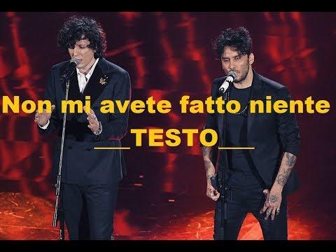 Non mi avete fatto niente - TESTO - Meta Moro - Sanremo 2018