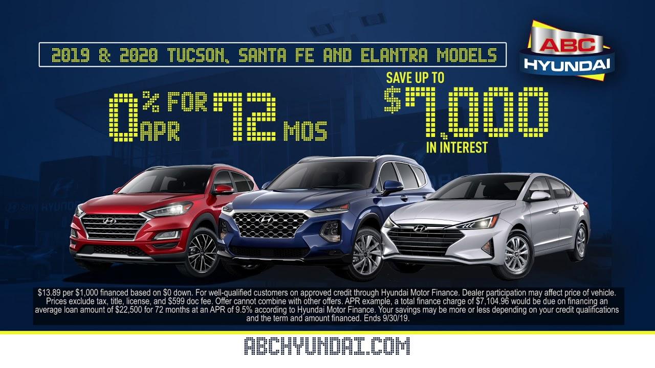 0 Apr Financing On 2019 And 2020 Hyundai Tucson Santa Fe And Elantra Youtube