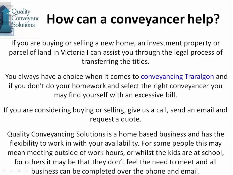 Quality conveyancing solutions conveyancing traralgon youtube quality conveyancing solutions conveyancing traralgon solutioingenieria Gallery